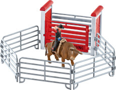 Schleich Farm World Western/ Rodeo - 41419 Bull Riding mit Cowboy, ab 3 Jahre