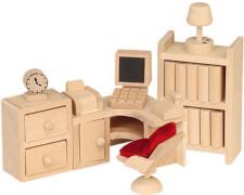 Puppenhausmöbel Büro, 10-teilig