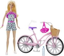 Mattel Barbie Puppe & Fahrrad