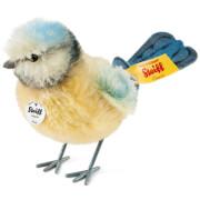 Steiff Piccy Blaumeise, Mohair, gelb/blau/weiß, 10 cm