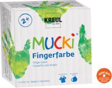 MUCKI Fingerfarben 4er Set