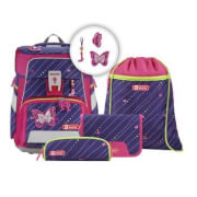 Step by Step Schulranzen-Set Space Shiny Butterfly, 5-teilig