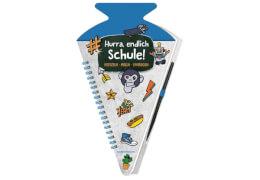 Schultüten-Kratzelbuch Funny Patches,blau  Hurra, endl.Schule!