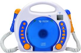 Karaoke CD Player MP3 2 Mikros blau NEU