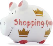 Sparschwein ''Shopping Queen'' - Kleinschwein von KCG - Höhe ca. 9 cm