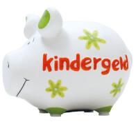 Sparschwein ''Kindergeld'' - Kleinschwein von KCG - Höhe ca. 9 cm