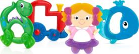 Nûby Hart & Soft Hart & Soft Beißring: Zug, Puppe oder Dino, ab 0 Monaten