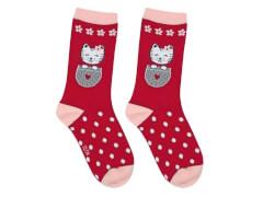 Sweety Socks Katze rot 31/34